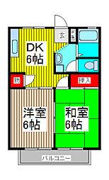 埼玉県さいたま市浦和区岸町5丁目の賃貸アパートの間取り