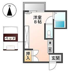 愛知県稲沢市稲沢町の賃貸アパートの間取り