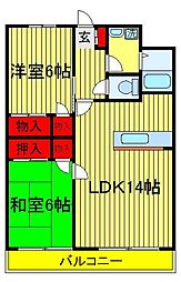 セナリオコート増尾イーストA・B[3階]の間取り
