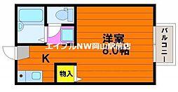 マ・メゾン津島福居[1階]の間取り