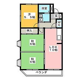 エーデルハイム折戸[1階]の間取り