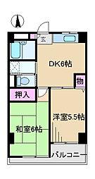 東京都荒川区西尾久3丁目の賃貸マンションの間取り