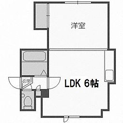 北海道札幌市西区二十四軒四条7丁目の賃貸アパートの間取り