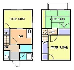 [テラスハウス] 神奈川県平塚市山下 の賃貸【神奈川県 / 平塚市】の間取り