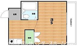 大阪府枚方市黄金野2丁目の賃貸マンションの間取り