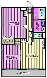 アドバンスM−12[2階]の間取り
