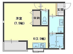 Prunus court[1階]の間取り