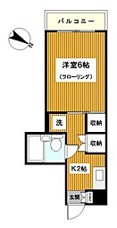 神奈川県横浜市保土ケ谷区釜台町の賃貸マンションの間取り