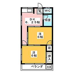 富澤ハイツ[3階]の間取り