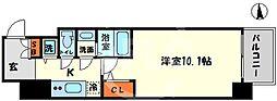エスリード大阪心斎橋 4階1Kの間取り