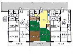 神奈川県茅ヶ崎市東海岸北2丁目の賃貸アパートの間取り