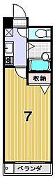 シェモア衣笠[303号室]の間取り