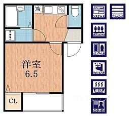 CASA加美正覚寺[1階]の間取り