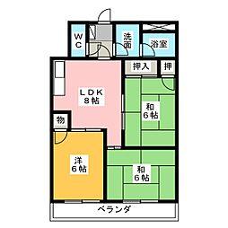 シルバーメゾン高田[3階]の間取り
