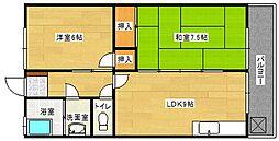コーポラス東山本[2階]の間取り