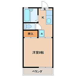 タウニィ霧島[2階]の間取り