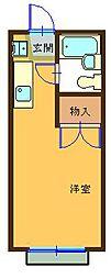 ハイツ平山[208号室]の間取り