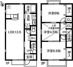 [テラスハウス] 愛知県安城市里町4丁目 の賃貸【愛知県 / 安城市】の間取り