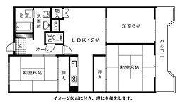 松川ハイツ[304号室]の間取り