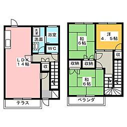[テラスハウス] 茨城県水戸市見川3丁目 の賃貸【/】の間取り