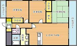 メゾンほおづきI[6階]の間取り