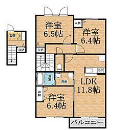 千葉県千葉市緑区大木戸町の賃貸アパートの間取り