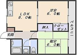 谷川ビル[4階]の間取り