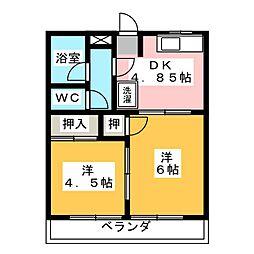 K・プラッツ[3階]の間取り
