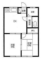 たまみハイツA[202号室]の間取り