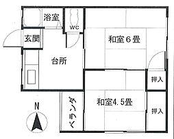 戸田文化2階Fの間取り画像