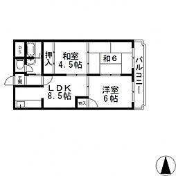 エトワールハイム川本[605号室号室]の間取り