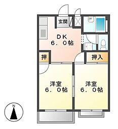 グリーンハイツ五反田2[2階]の間取り