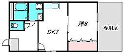 大阪府摂津市鳥飼上2丁目の賃貸マンションの間取り