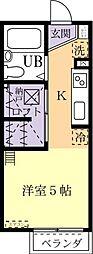 D-Room KASUGA 1階1Kの間取り
