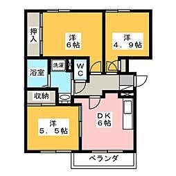エルディムパディ A棟[2階]の間取り