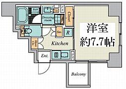 東京メトロ丸ノ内線 御茶ノ水駅 徒歩9分の賃貸マンション 9階1Kの間取り