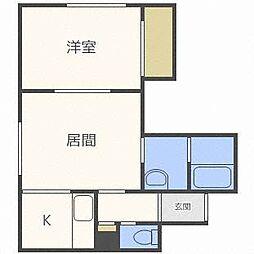 コート・フルーレI[2階]の間取り