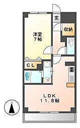 愛知県名古屋市港区入場2の賃貸マンションの間取り