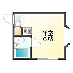 大阪府大阪市平野区平野本町4丁目の賃貸マンションの間取り
