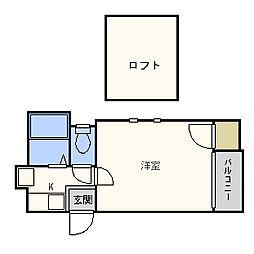 フレールシティ[2階]の間取り