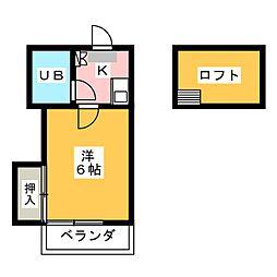 バンビレッジ[2階]の間取り