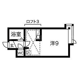 北海道札幌市豊平区平岸三条16丁目の賃貸アパートの間取り