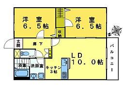 奥落合ビル[2階]の間取り