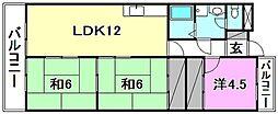 グリーンハイツ北井門[501 号室号室]の間取り