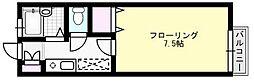 シャルム中村II[202号室]の間取り