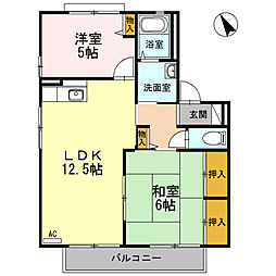 メッセゆうC棟[2階]の間取り