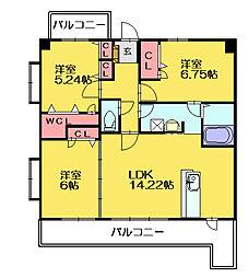 スルスオーディックガーデン[4階]の間取り