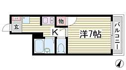 メゾン大倉山[105号室]の間取り