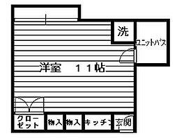 片平ホワイトレジデンス[3階]の間取り