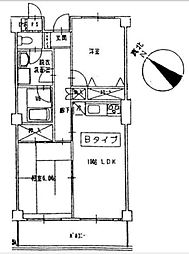 リブラ[4ーB号室]の間取り